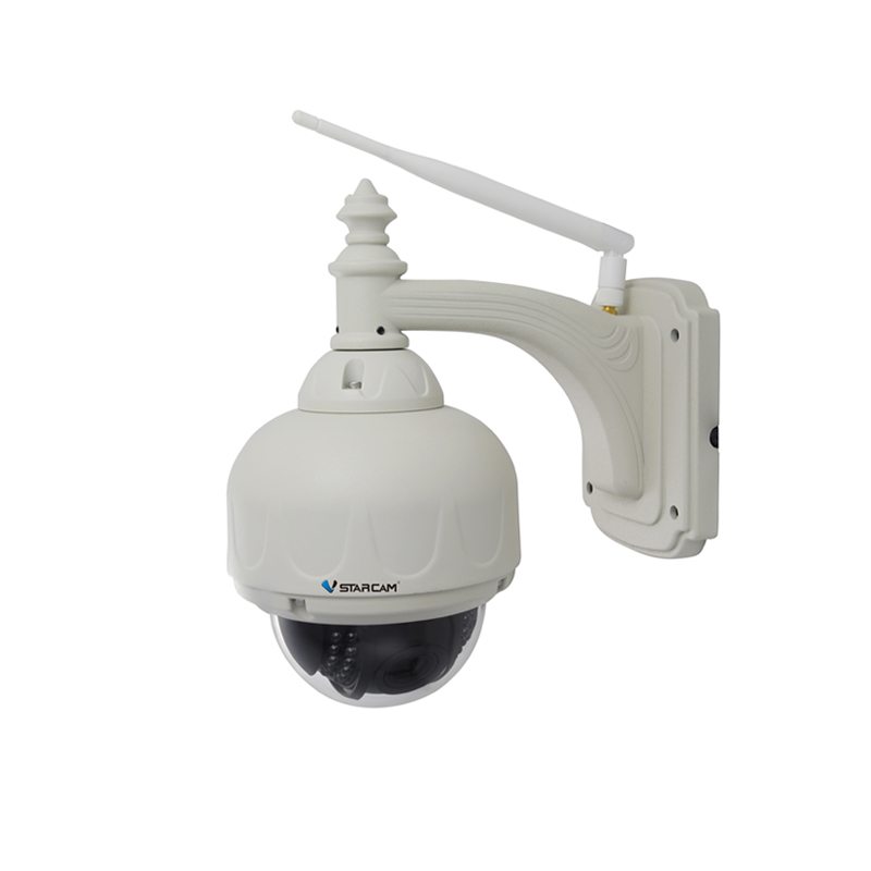 VStarcam C7833-X4 Plug&Play IR-Cut Wireless HD 720P 4xZOOM H.264 P2P Outdoor PTZ IP Camera Built-in TF/Micro SD Card Slot 2015 vstarcam t6835 micro tf sd card security ip camera wireless wifi p2p plug