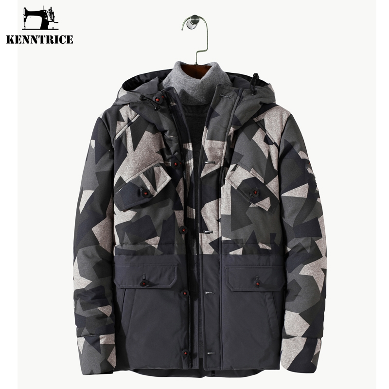 KENNTRICE Free Shipping Men Winter Jacket Camouflage Hooded Parkas Men Patchwork Streetwear Winter Coats Military Jackets