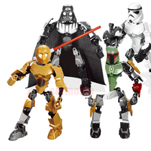 Star Wars Rogue One Toys Jango Phasma Jyn Erso K-2SO Darth Vader General Figure toy building LegoINGlys blocks Toys BKX81 цена
