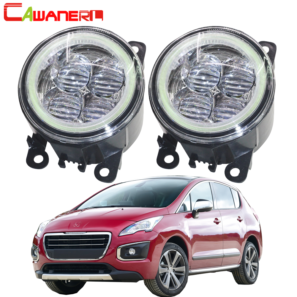 Cawanerl 2 Pieces Car LED Bulb Fog Light Angel Eye Daytime Running Light DRL 12V For Peugeot 3008 MPV 2009 2010 2011 2012 2013 ecahayaku 1set 12v waterproof daytime running light drl fog lamp with fog hole for ford focus hatchback 2009 2010 2011 2012 2013