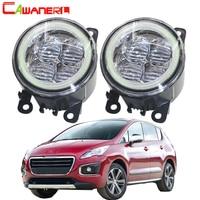 Cawanerl 2 Pieces Car LED Bulb Fog Light Angel Eye Daytime Running Light DRL 12V For Peugeot 3008 MPV 2009 2010 2011 2012 2013