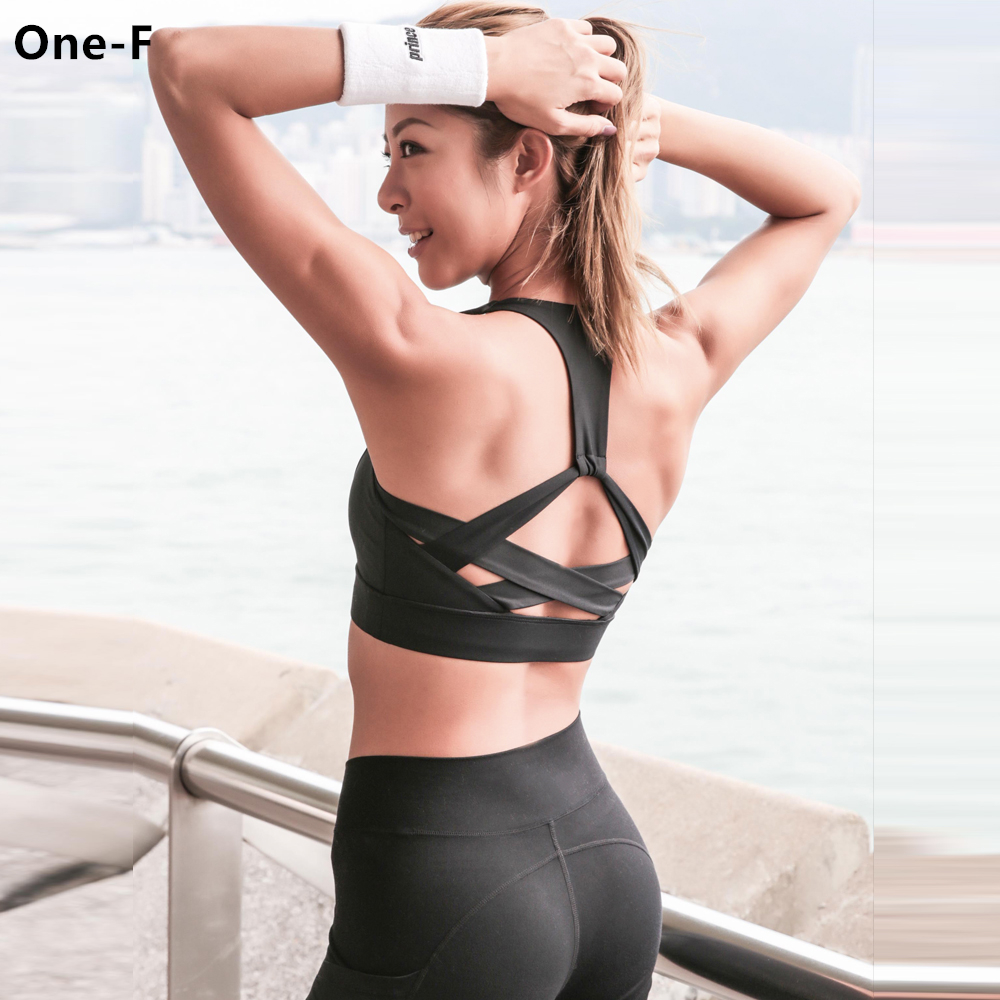 Icyzone Women Activewear Yoga Clothes Strappy Crisscross: Aliexpress.com : Buy Crisscross Cute Sports Bra Women High