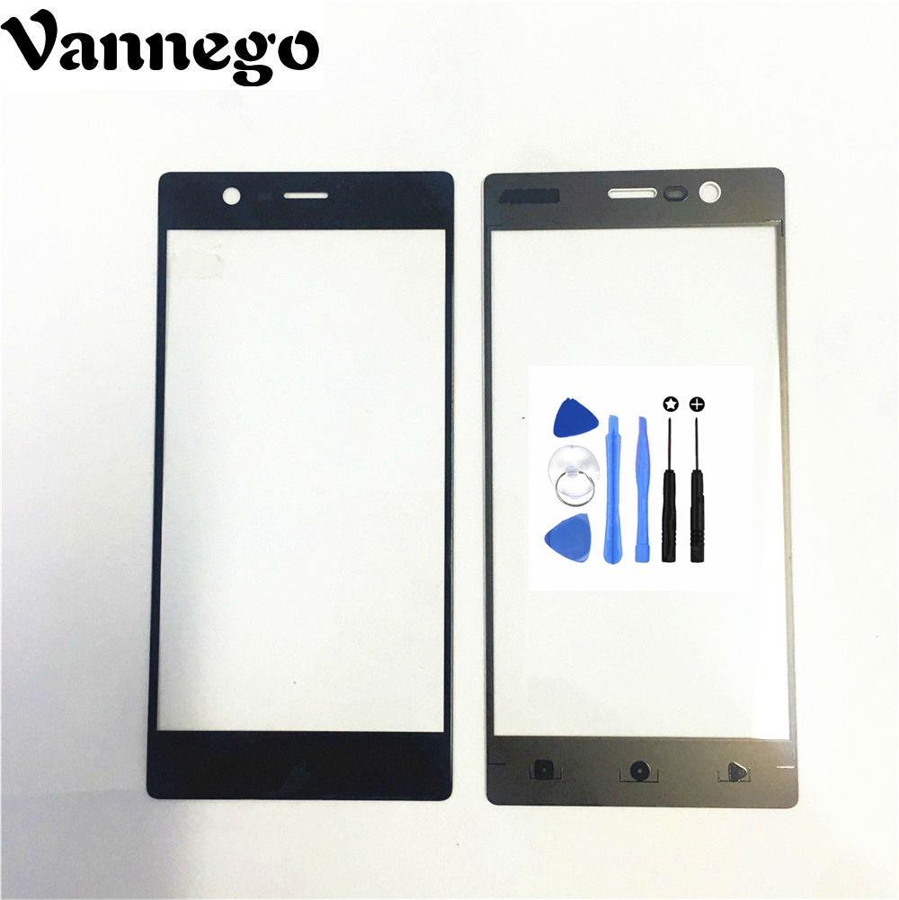 Vannego Touch Screen For Nokia 3 Mobile Phone Touch Panel Front Glass 5.0 Inches Repair Parts Black for nokia3