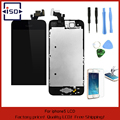 Black Full Front Touch Screen Digitizer LCD Display Repair Assembly Replacement for iPhone 5 LCD Display +Tempered glass+Tools