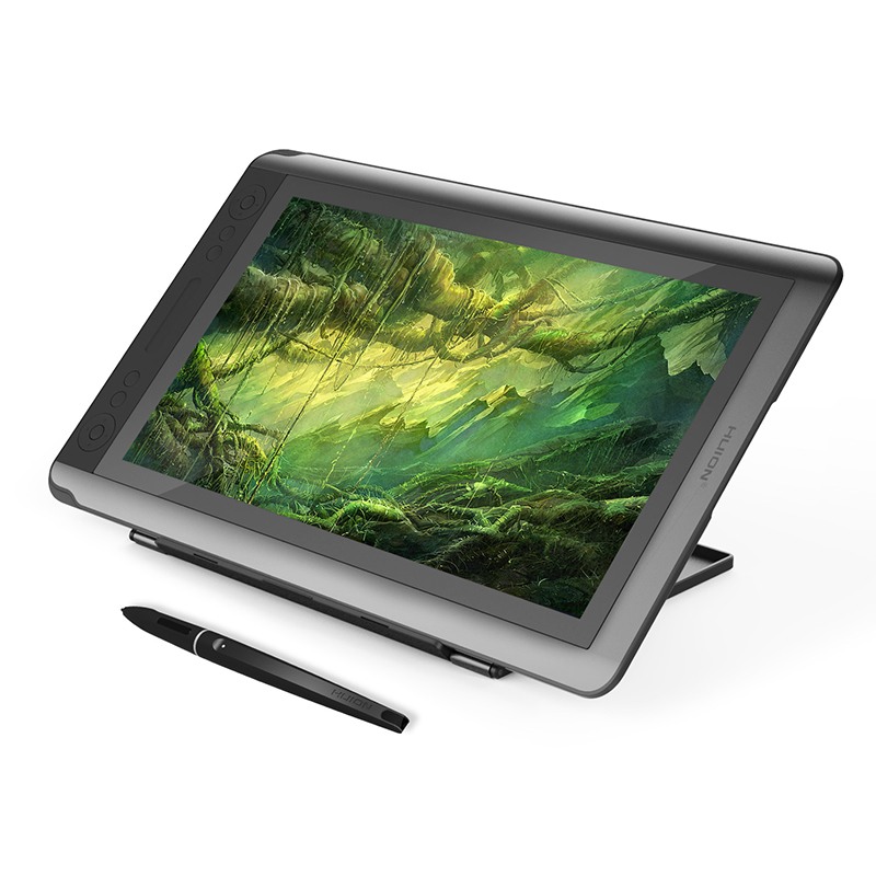 HUION KAMVAS GT-156HD 15.6 inches Drawing Tablet Monitor Graphics Digital Pen Display with Full HD Screen xp pen artist22e fhd ips pen display monitor graphics drawing tablet with 16 express keys