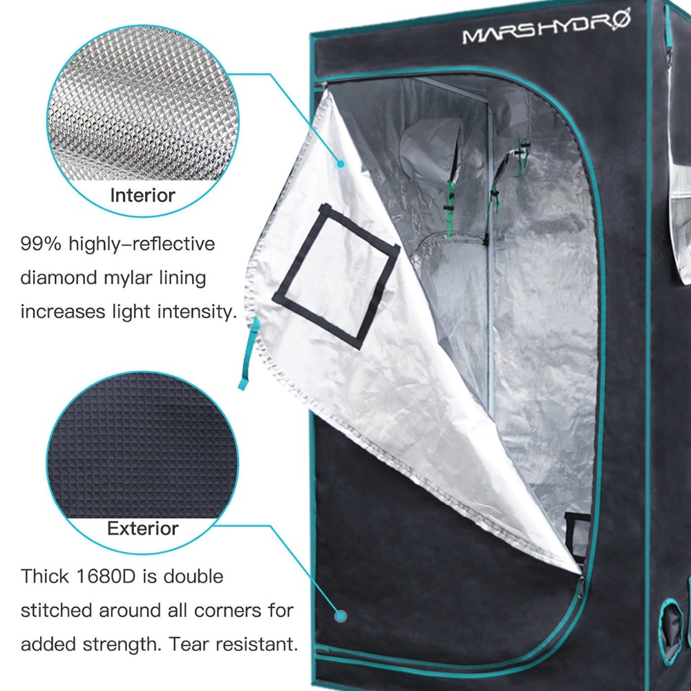Mars Hydro Full Spectrum Reflector 240W LED Grow Light & 1680D 70 * - Професионално осветление - Снимка 6