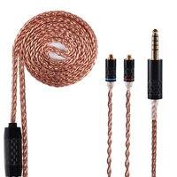 Ak yinyoo 8 core 7n atualizado único cabo de cobre cristal taiwan importação 4.4/2.5/3.5mm cabo com mmcx/2pin trn x6 zs10 pro c12|Acessórios para fone de ouvido| |  -
