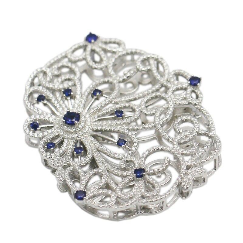 Beadsnice argent Sterling filigrane fermoir à la main Multi brin collier connecteur perles bijoux composants ID35285 - 3
