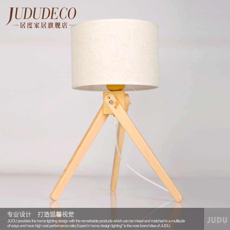 ... Wooden Modern Minimalist Bedroom Bedside Lamp IKEA Scandinavian Style  Korean Fashion Personality Creative Small Table Lamp ...