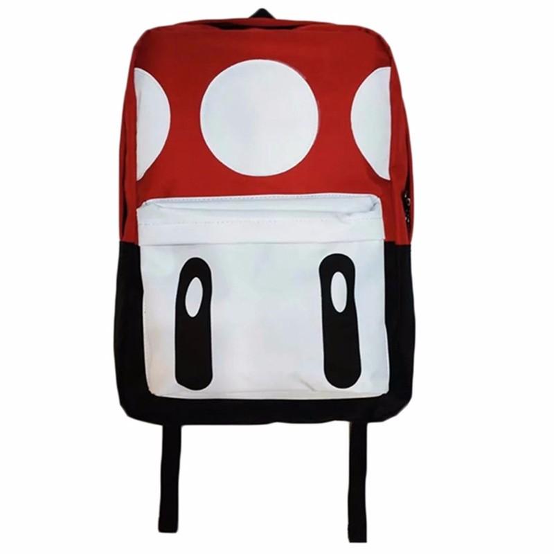 Cute Mochila Super Mario Backpack Children Teenagers Cartoon Girl Plush Bags Kids School Bags Super Mario Bros Printing Backpack (1)