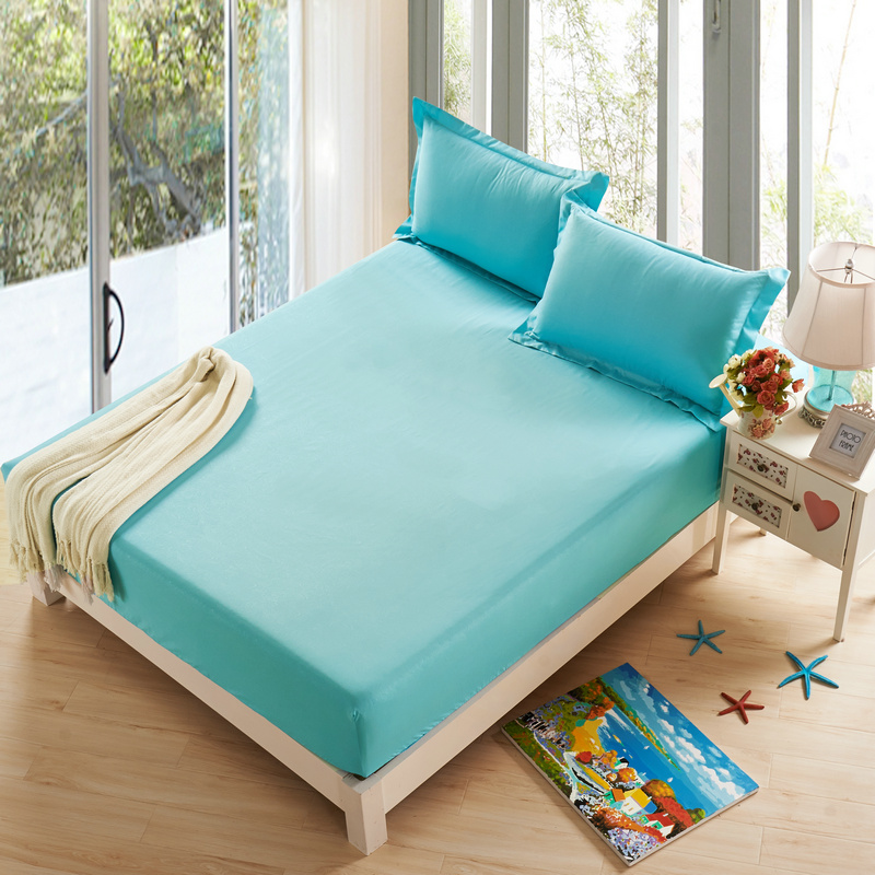 sunnyrain 3 pieces polyester solid color bed sheet set