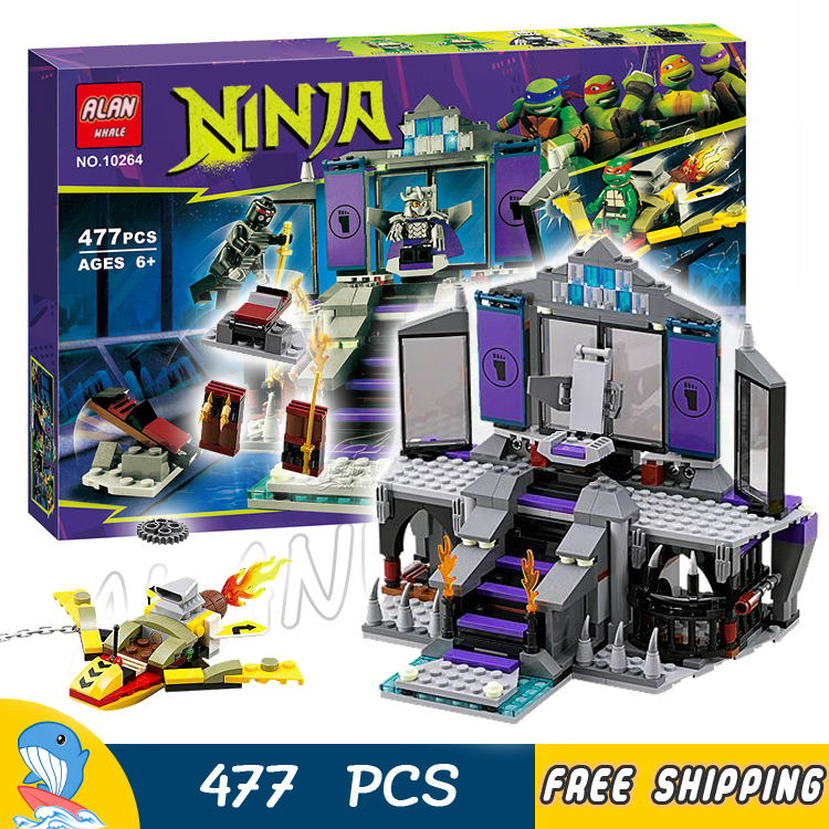 477pcs New Ninja Shredders Lair Rescue 10264 DIY Model Building Kit Blocks Children Toys Bricks Movie Games Compatible with Lego auto fuel filter 163 477 0201 163 477 0701 for mercedes benz