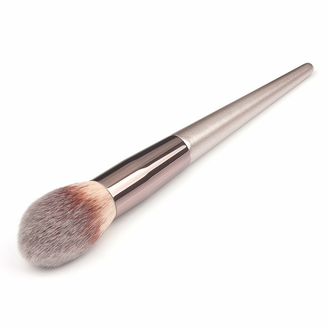 Wooden Champagne Makeup Brushes Set for Foundation Powder Blush Eyeshadow Concealer Lip Eye Make Up Brush Luxury Cosmetics Tools 5