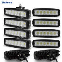 10pcs 6 LED offroad truck trailer 18W working lights lamp worklight driving fog headlights 12V/24V 4X4 DRL 18W LED light bar