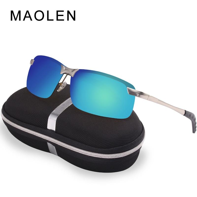 MAOLEN Autóvezetők éjjellátó védőszemüveg Fényvisszaverő Polarizáló napszemüveg polarizált szemüveg Box.3043 Férfi napszemüveg