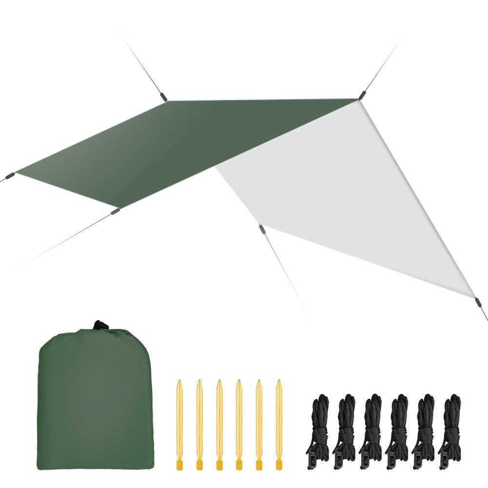 3 m x 3 m étanche abri soleil tente bâche Anti UV plage tente ombre en plein air Camping hamac pluie mouche Camping parasol auvent