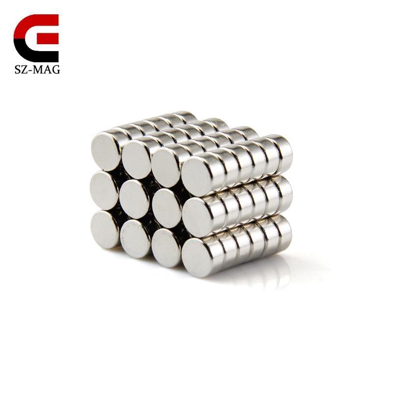 100pcs high quality Round 6x3mm NdFeB Neodymium Disc Magnets Dia 6mm x 3mm N50 Super Powerful  fridge art  craft  Magnet qs 3mm216a diy 3mm round neodymium magnets golden 216 pcs page 6