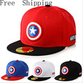 Captain America Avengers 2016 Brand Baseball Caps Cartoon Casual Hat Hip-Hop Hats And Snapback NY Caps For Children