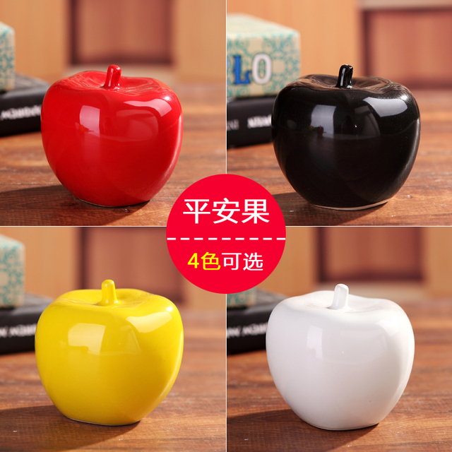 Ceramic apple home decor crafts room wedding decoration handicraft ceramic apple home decor crafts room wedding decoration handicraft ornament porcelain figurines christmas articles decorations junglespirit Image collections
