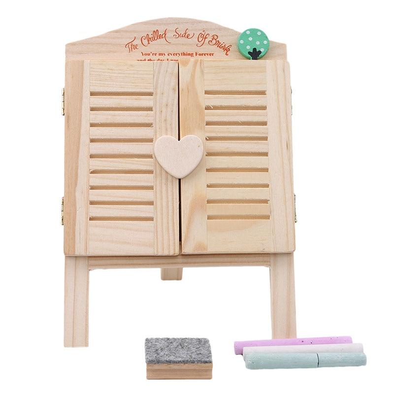 Новое поступление, мини черная маленькая доска, деревянная доска, для детей, для раннего развития, для рисования, игрушки - Цвет: Blackboard