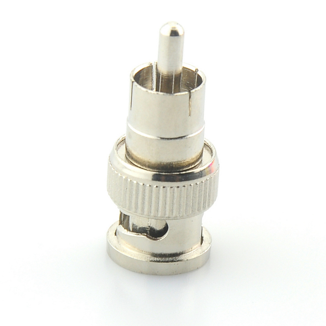 BNC Male to RCA Male Coax Connector Adapter Cable Coupler for CCTV Camera