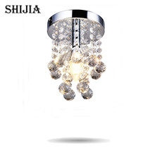 Фотография Energy-Saving LED Luxury Crystal Chandelier Simple Small Aisle Stair Hallway K9 Ceiling Lamp