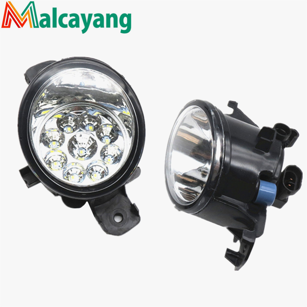 1 SET (Left + right) Car Styling Front LED Fog Lamps Fog Lights 26150-89905 For NISSAN QASHQAI 2007 2008 2009 2010 2011 2012-13 for jaguar s type 1999 2008 led lamps fog light lights car styling 1 set