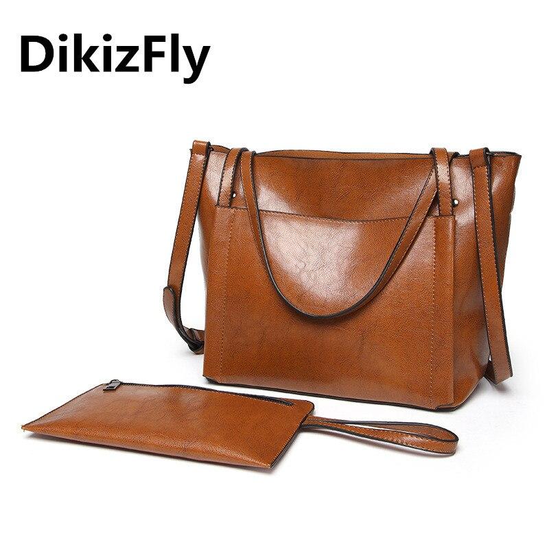 DikizFly New Women Handbags Women Bags Large Totes Composite Bag Big Ladies Shoulder Bags Messenger Famous Brand Bolsas Feminina