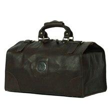 Men's Classic Cow Leather dragon design Shoulder Attache business Laptop Bag Tote Luggage Travel Duffel Boarding Bag huge
