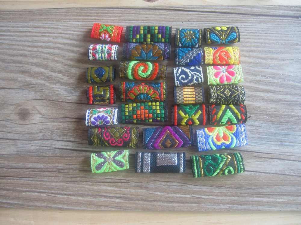 15 шт красочные Dread дредлок бисера ткань дредлок бисера