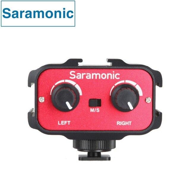 Saramonic SR-AX100 Универсальный Микрофон Аудио Адаптер Стерео Микшер с & Dual Mono 3.5 мм Входы для ЦИФРОВЫХ ЗЕРКАЛЬНЫХ Камер и Видеокамер