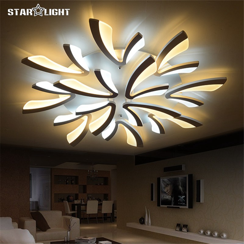 Remote Control Home Ceiling Lights Modern Double Color Led