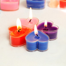 20pcs Romantic heart-shaped decorative candle  Tealight jelly Candles for creative marriage proposals wedding party home decor