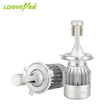LDRIVE H4 H7 H13 H11 H1 9005 9006 H3 9004 9007 9012 COB LED Headlight 72W 7200LM Car Headlights Bulb Fog Light 6500K 12V-24V