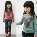 2017 Top Quality New Autumn Winter Shirts Long Sleeve Casual Baby Kids Toddler Girls Clothes Polka Dot T-Shirt Blouse Tops hx001