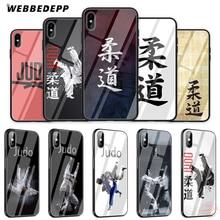 WEBBEDEPP дзюдо закаленное стекло чехол для телефона для Apple iPhone XS Max XR X 8 7 6 S плюс 5S SE крышка