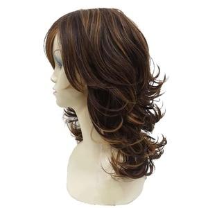 Image 3 - شعر مستعار نسائي قوي مجعد متوسط الطبقات من أوبورن لشعر مستعار كامل اصطناعي سميك