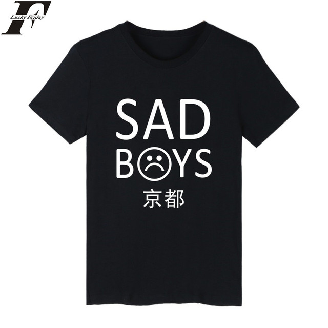 d3a35e136101af LUCKYFRIDAYF 2017 Sad Boys Yung Lean T-shirt Summer Fashion Casual Kpop  Hiphop Cool For Men Women Short Plus Size 4XL Clothes