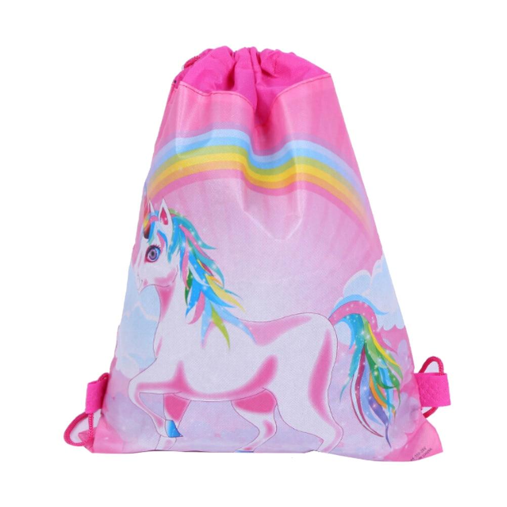 1PCS New Arrival Unicorn Drawstring Bags Cartoon Theme Unicorn String Bags Unicorn Drawstring Bag Kids Back Bags