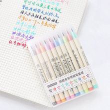 Futurecolor – ensemble de stylos marqueurs colorés pour calligraphie, dessin, fournitures de papeterie d'art coréen, 10 pièces/lot