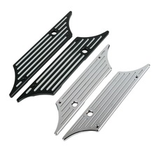 Motorcycle Chrome/Black Saddle Bag Latch Cover Face For Harley Touring Street Glide FLHX Road King1993-2013