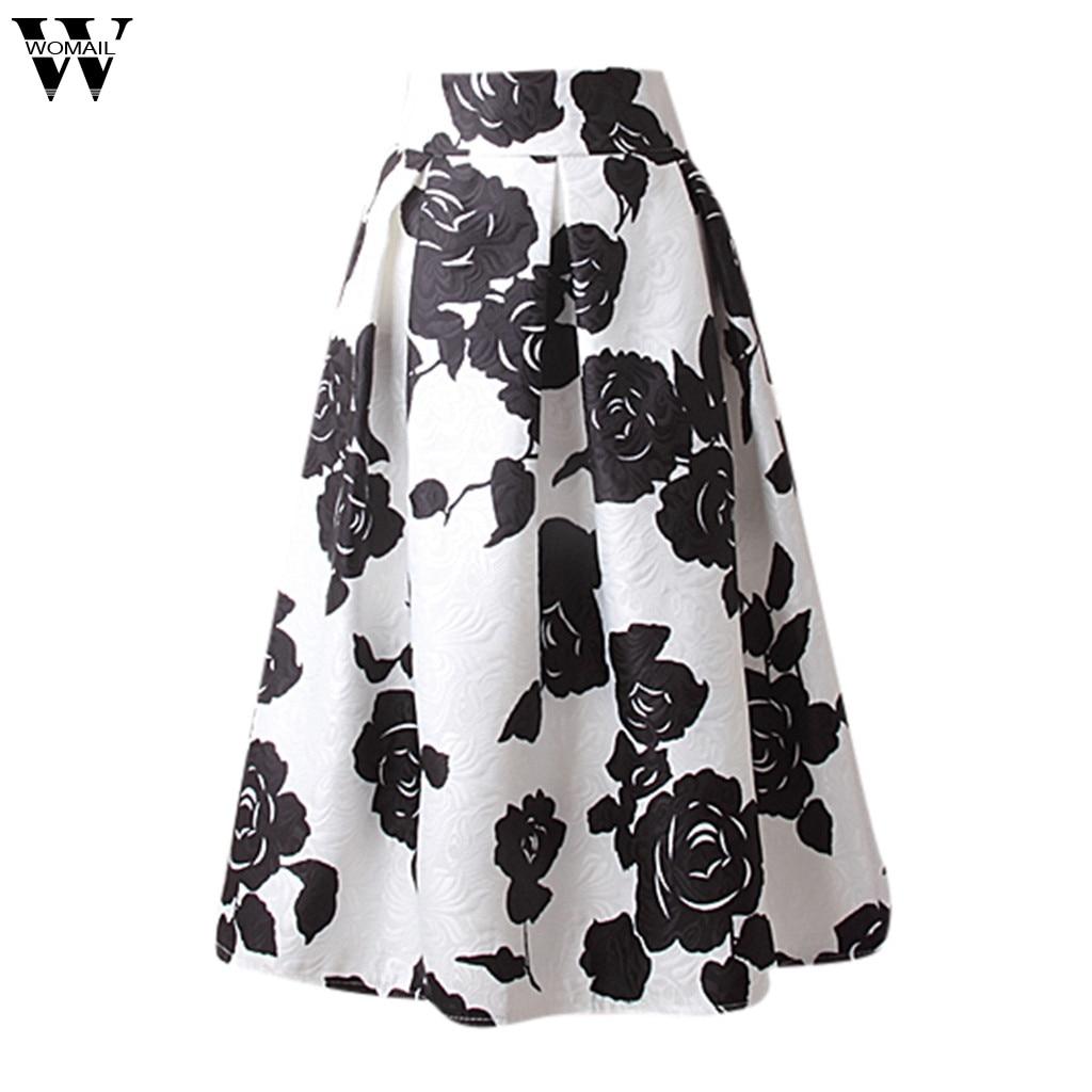 Womail Skirt Women Summer Grey Side Zipper Tie Front Overlay Ruffle Skirt Print Casual High Waist Fashion NEW 2019 Dropship M28
