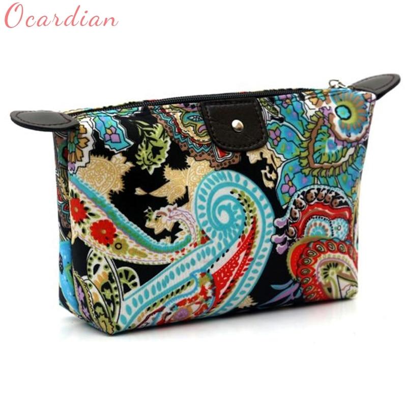 1PC Fashion Women Travel Make Up Cosmetic Pouch Bag Clutch Handbag Casual Purse
