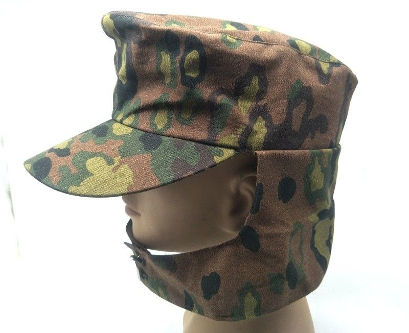 8163887e86c WWII WW2 GERMAN ARMY EM SUMMER PANZER M43 FIELD SPRING OAK CAMO CAP HAT IN  SIZES World military Store-in Hiking Caps from Sports   Entertainment on ...