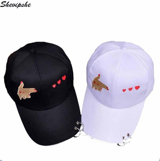 Moda mano de algodón rosa amor gestos dedo SnapBack sombreros ...