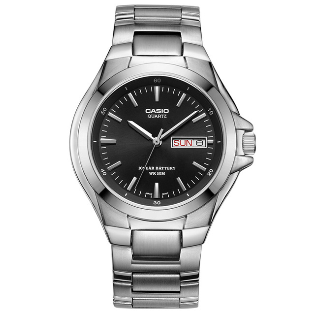 8ad99e5a3741 Relojes Casio 50 metros a prueba de agua reloj de cuarzo para hombre placa  negra correa