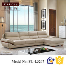 furniture living room luxury antique L shaped sofa prices air leather sofa design modern(China)