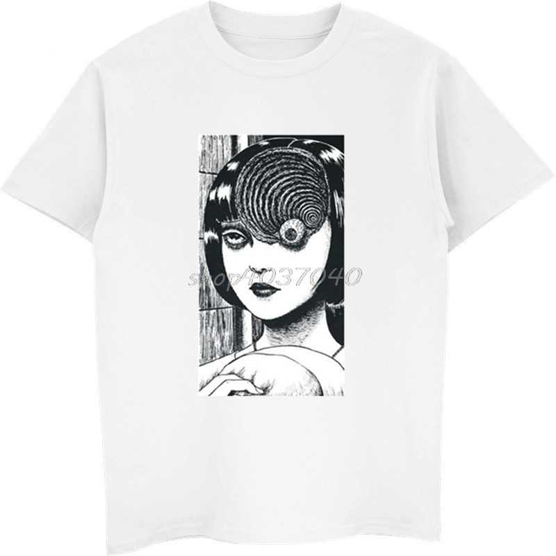 427eccc268a Summer Fashion Men Casual Tees Uzumaki Shirt Junji Ito Horror Manga Shirts  Male Funny T Shirt