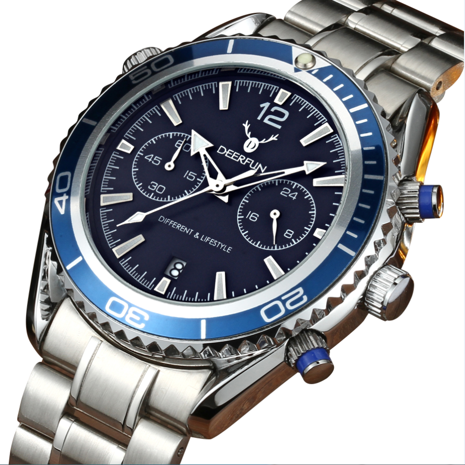 2018 Fashion Chronograph Sport Mens Watches Top Brand Luxury Quartz Watch Reloj Hombre Male Saat Hour Relogio Masculino