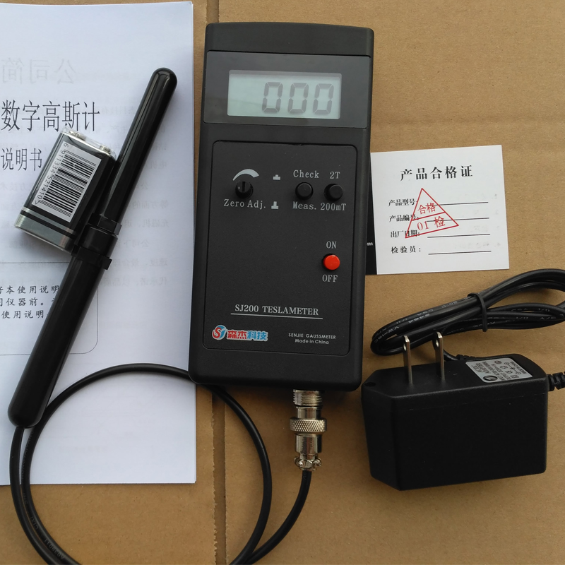Teslâmetro Handheld Campo Magnético Gauss Medidor Tester Digital Sj200